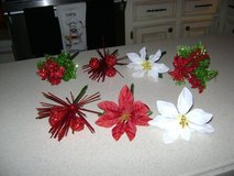 """Flower Pens"" -- Christmas Design -- 4 Left (Poinsettia Ones Are Sold) in Kingwood, Texas"