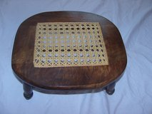 Amish Walnut stool signed in Ramstein, Germany